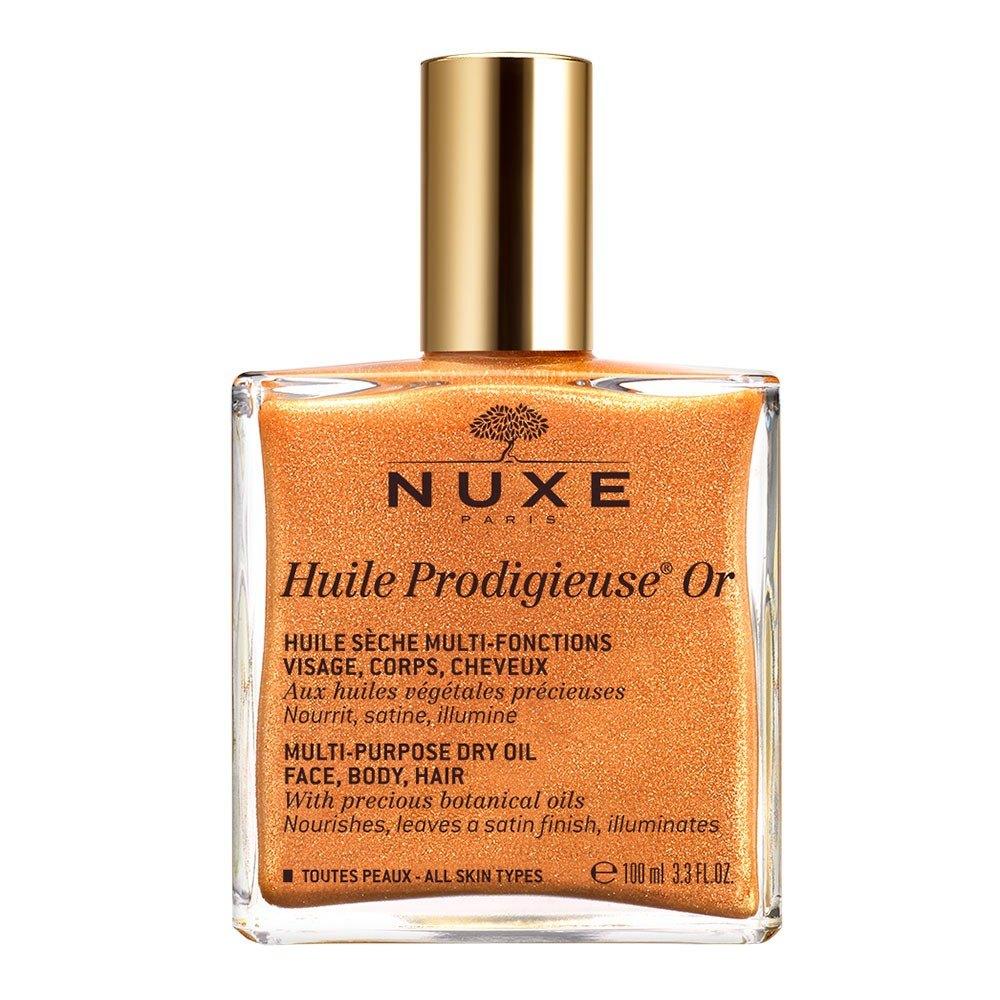 Huile Prodigieuse® Többfunkciós Arany-Csillámos Száraz Olaj Arcra, Testre, Hajra Spray